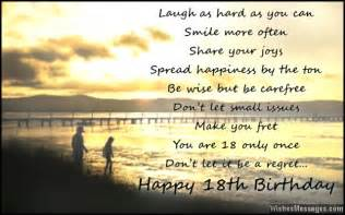 18th birthday wishes for son or daughter messages from