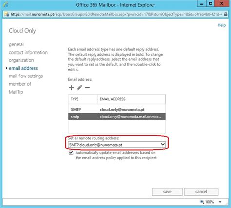 Office 365 Mail User Match Office 365 Mailbox With New On Premises User In A