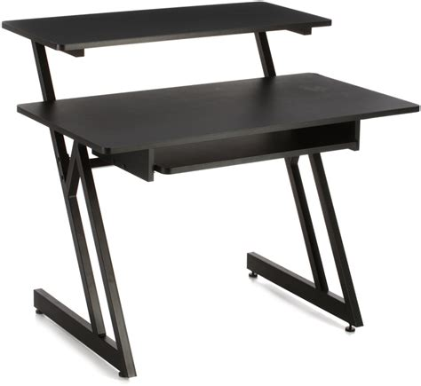 On Stage Stands Ws7500 Wooden Workstation Black Sweetwater On Stage Studio Desk
