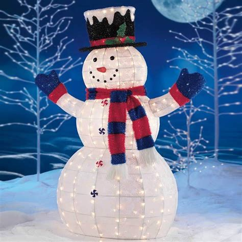 lighted snowman for outside snowman outdoor lights 12 ways to make your christmas