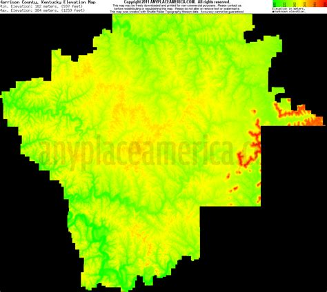 kentucky elevation map free harrison county kentucky topo maps elevations