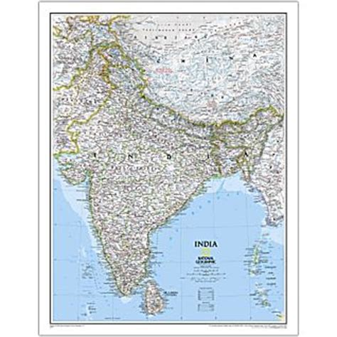 the way laminated national geographic reference map books india national geographic laminated maps books