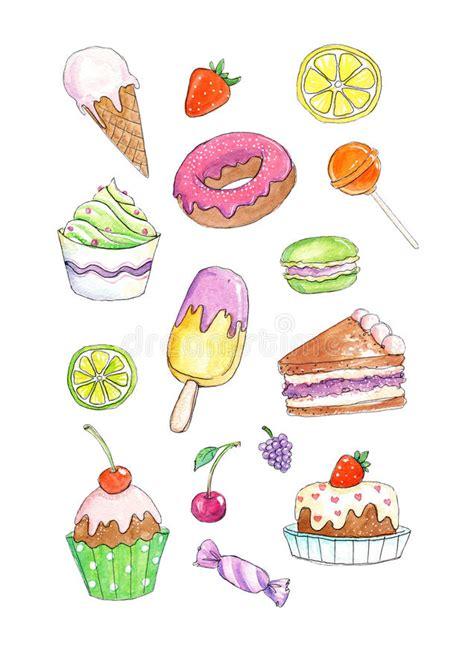 clipart dolci illustrazione di libro da colorare dei dessert e dei dolci