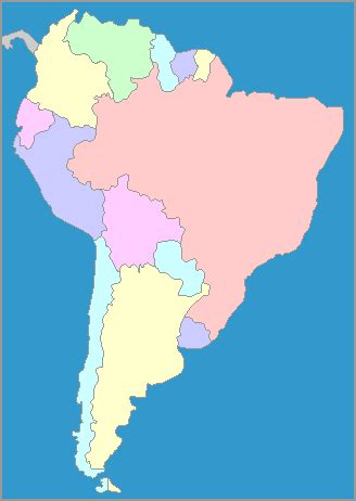 interactive map  south america