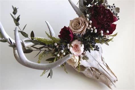 awesome flowery crown u0026 skull we the o jays and deer on