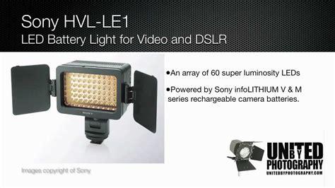 sony hvl le1 handycam camcorder light sony hvl le1 led camera light youtube