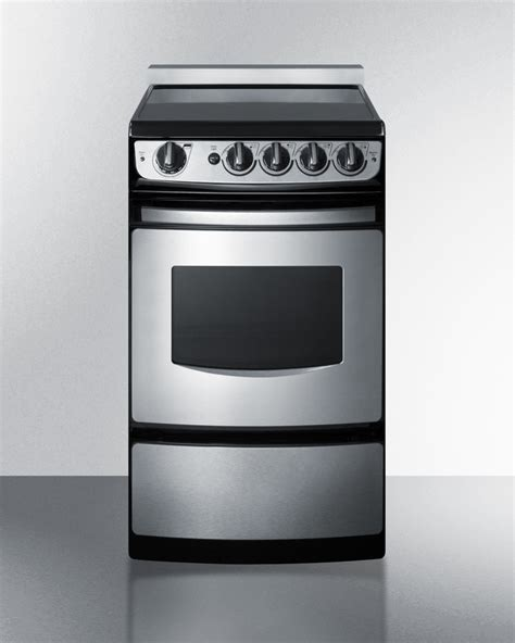 27 Inch Wide Slide In Electric Range by Summit Rex207ssrt 20 Inch Wide Slide In Smooth Top