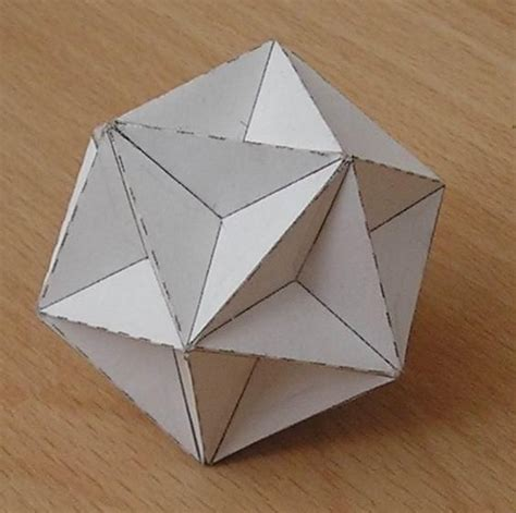 paper model great dodecahedron origami