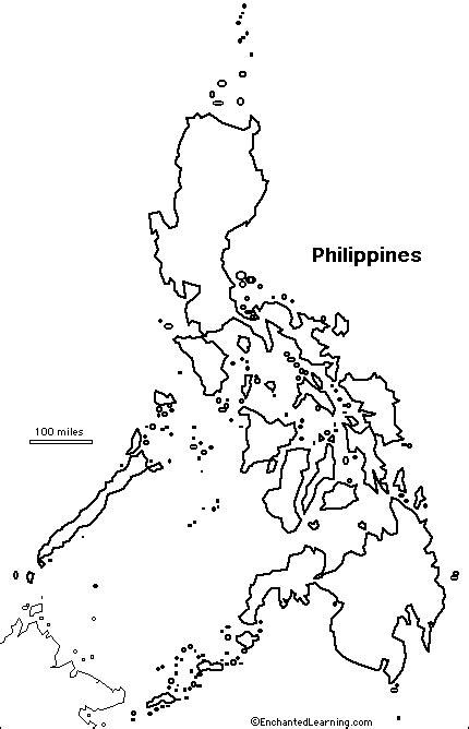 printable map philippines outline map philippines enchantedlearning com