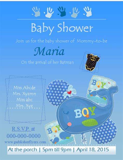 publisher templates for baby shower free printable flyer templates joy studio design gallery
