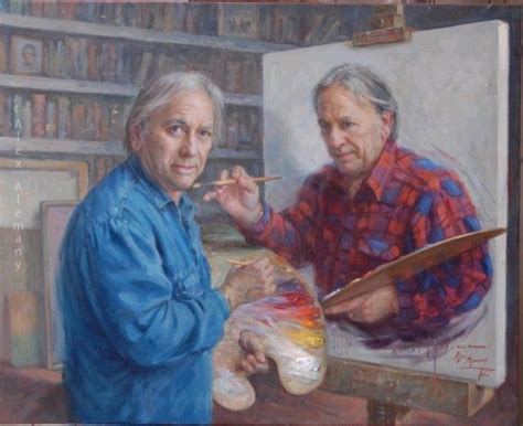 A Painting Within A Painting by Artist Paints Himself Painting Himself Painting Himself