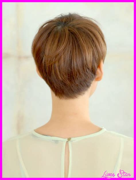 short hairstyles with weight line for women long pixie haircut back view livesstar com