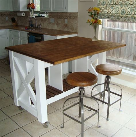 diy kitchen island table white rustic x kitchen island done diy projects