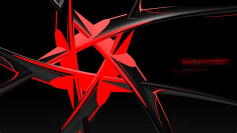 black themes star red star full hd wallpaper and background image