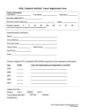 Softball Tryout Liability Form Fill Online Printable Fillable Blank Pdffiller Softball Registration Form Template