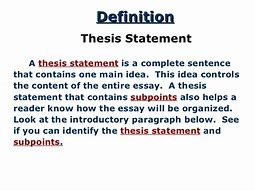 what is the meaning of thesis statement with examples image result for what is the meaning of thesis statement with examples