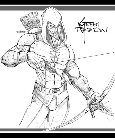 Green Arrow Free Coloring Pages Green Arrow Coloring Pages