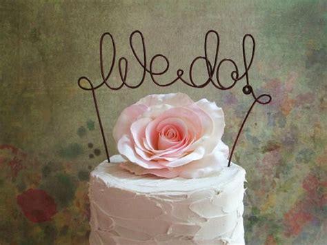 we do cake topper banner rustic wedding cake topper