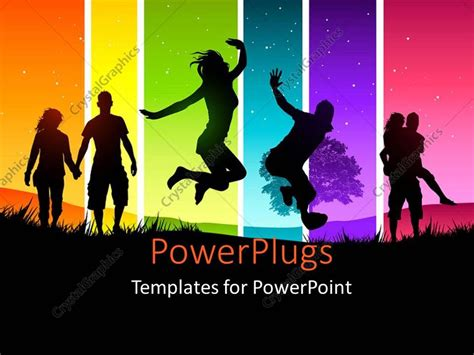 templates for powerpoint family powerpoint template couples and friends having fun with