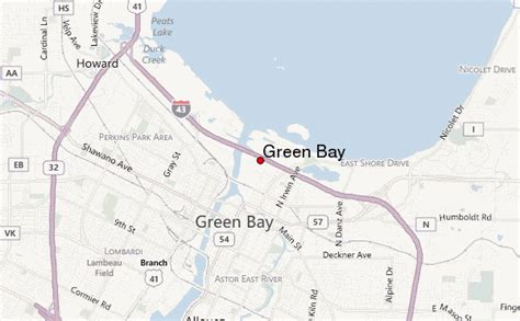 green bay map green bay location guide