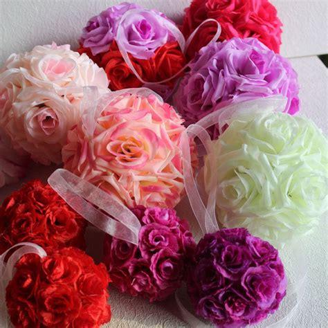 silk wedding flowers centerpieces 15cm artificial flowers balls pomanders