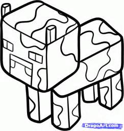 minecraft cow coloring page search