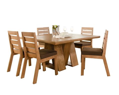 comedor en madera de encino en color maple carpinteria