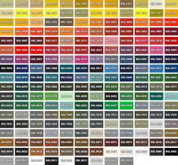 ral colors ral color chart pdf car interior design