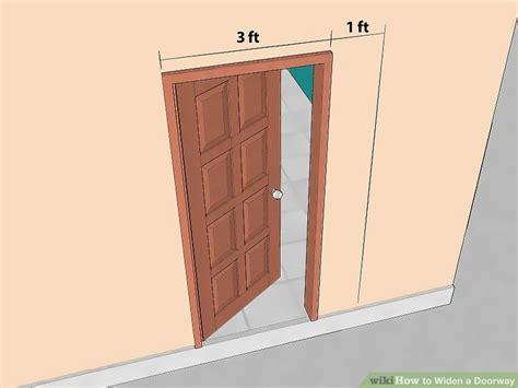 widen  doorway  steps  pictures wikihow