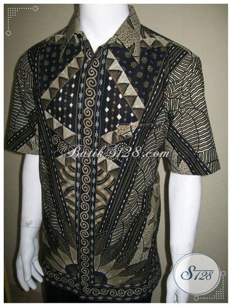 Kemeja Batik Sogan Milo baju batik pria lengan pendek batik tulis motif milo kemeja batik gaul ld198t xl toko