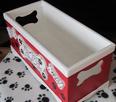 handmade dog toy storage boxpampered paw gifts