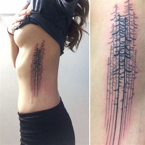 simple side tattoos reiding pine trees side inspiration ink