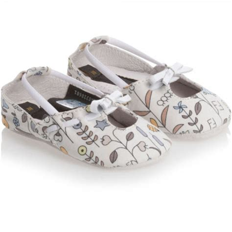 Designer Baby Crib Shoes by Designer Baby Fendi Baby Floral Shoes