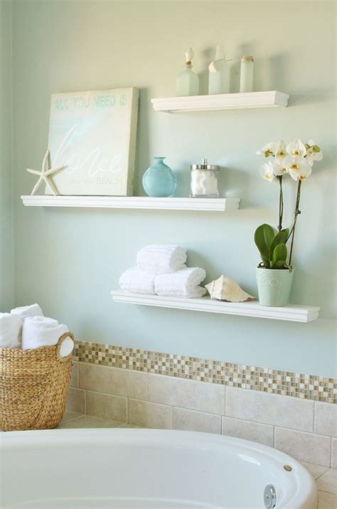 how to decorate a shelf in the bathroom