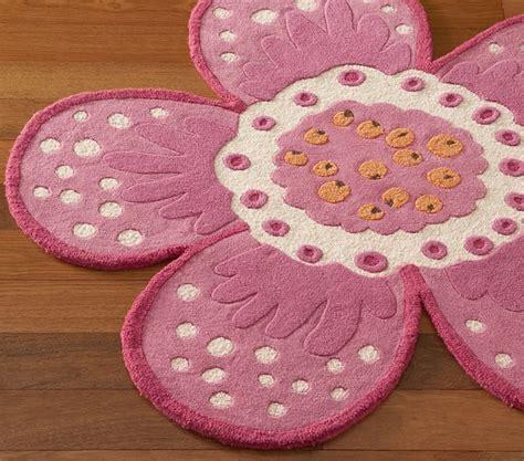 pink flower shaped rug emmy flower shaped rug swatch pottery barn