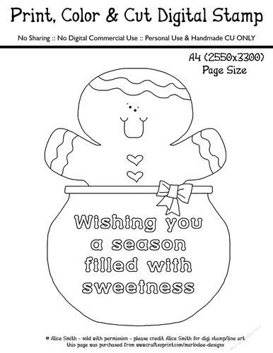 Wishing You A Season Filled With by Wishing You A Season Filled With Sweetness Gingerbread