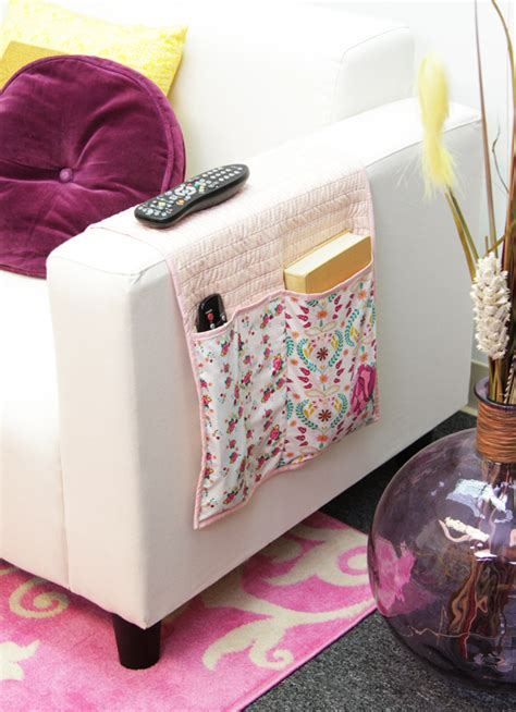 Sofa Caddy by 20 Easy Sewing Projects To Organize Your Home In Style