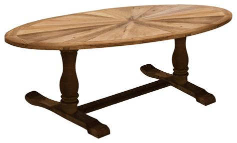 Oval Rustic Dining Table Elm Wood Oval Dining Table Rustic Dining Tables By Gdfstudio