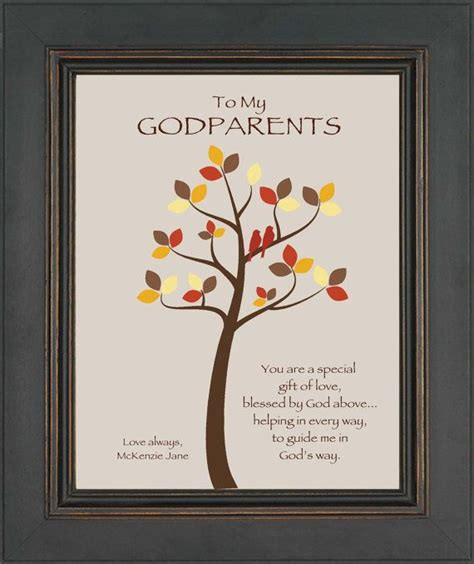 godparents custom gift personalized gift for godmother and godfathe