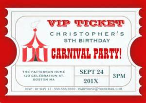 carnival ticket template 28 ticket invitation templates free sle exle