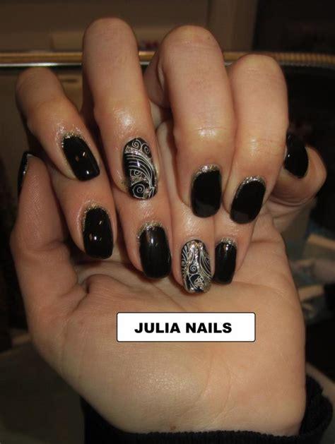 ongle gel noir ongle en gel couleur noir pronails de nails 933