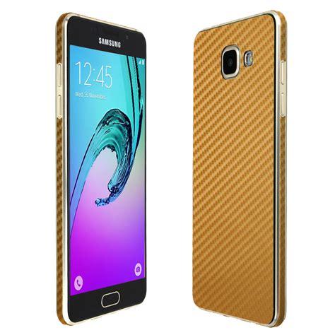 New Samsung A5 2016 Warna Gold skinomi techskin samsung galaxy a5 2016 gold carbon fiber skin protector