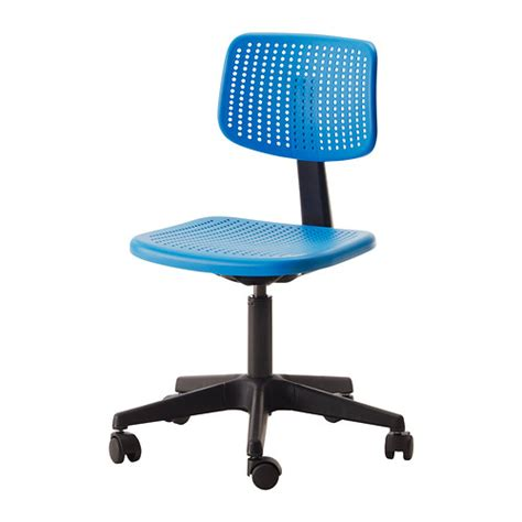 Small Blue Desk Chair Alrik Swivel Chair Blue Ikea