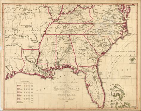 sections of the united states southern section of the united states including florida c