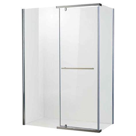 shower doors rona rona glass shower doors quot aura quot semi frameless
