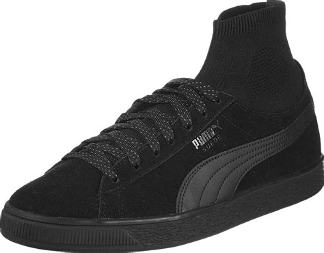 sock shoes suede classic sock shoes black