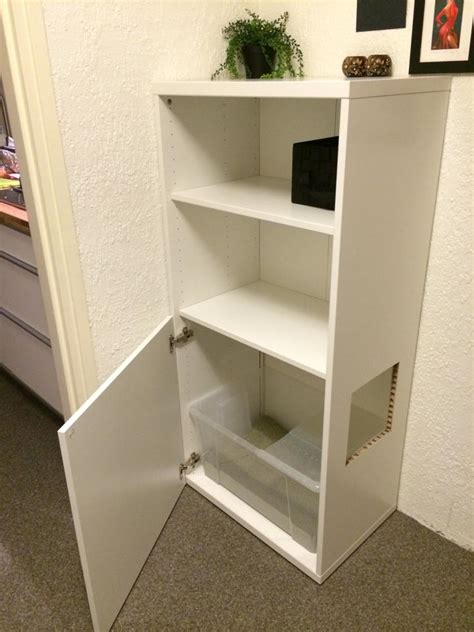 Dresser Bookshelf Combo Top Entry Besta Litterbox Ikea Hackers