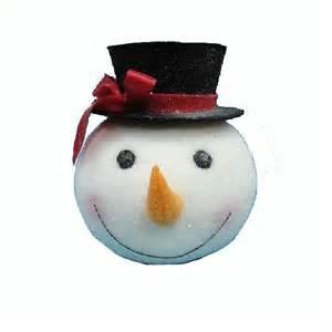 Nautical Home Decorations snowman head tree top ornament
