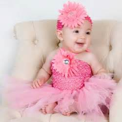 Baby pink flower tutu dress and headband free shipping on orders