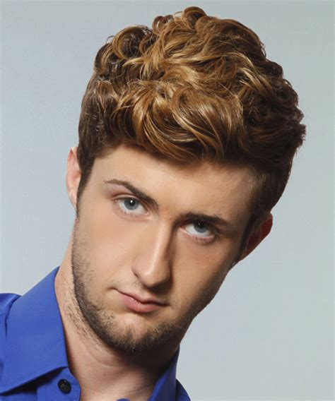 formal hairstyles male short wavy formal hairstyle medium brunette